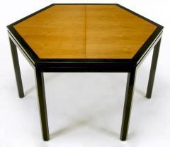 Edward Wormley Rare Edward Wormley Hexagonal Mahogany and Tawi Dining Table - 231723