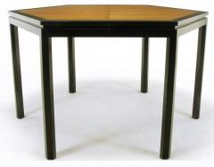 Edward Wormley Rare Edward Wormley Hexagonal Mahogany and Tawi Dining Table - 231724