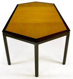 Edward Wormley Rare Edward Wormley Hexagonal Mahogany and Tawi Dining Table - 231727