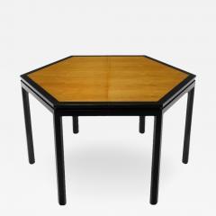 Edward Wormley Rare Edward Wormley Hexagonal Mahogany and Tawi Dining Table - 231779