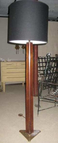 Edward Wormley Rare Edward Wormley Rosewood and Brass Floor Lamp for Hansen - 602686