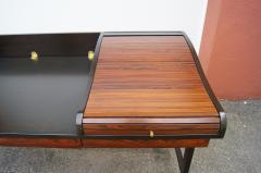 Edward Wormley Rosewood and Mahogany Roll Top Desk by Edward Wormley for Dunbar - 1396988