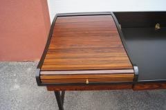 Edward Wormley Rosewood and Mahogany Roll Top Desk by Edward Wormley for Dunbar - 1396990