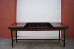 Edward Wormley Rosewood and Mahogany Roll Top Desk by Edward Wormley for Dunbar - 1396991