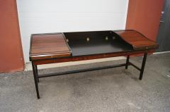 Edward Wormley Rosewood and Mahogany Roll Top Desk by Edward Wormley for Dunbar - 1396994