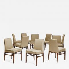 Edward Wormley Set of 10 dining room chairs by Edward J Wormley for Dunbar USA 1950s  - 734852