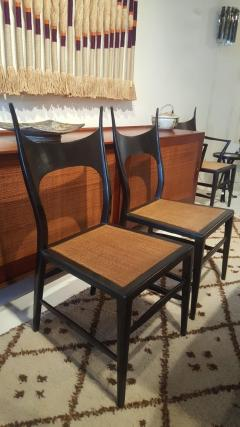 Edward Wormley Set of Eight Edward Wormley 5580 Dining Chairs for Dunbar 1950s - 902745
