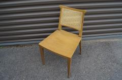 Edward Wormley Set of Four Cane and Mahogany Dining Chairs by Edward Wormley for Dunbar - 1177791