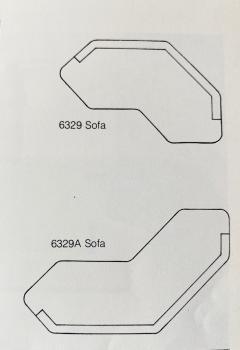 Edward Wormley Sofa Model 6329A Designed Edward Wormley for Dunbar - 1090486