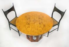 Edward Wormley Solid Walnut Olive Burl Wood Game Table by Edward Wormley for Dunbar - 1484240
