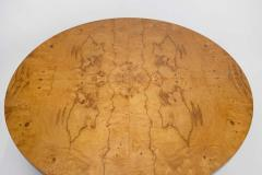 Edward Wormley Solid Walnut Olive Burl Wood Game Table by Edward Wormley for Dunbar - 1484242