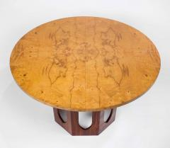 Edward Wormley Solid Walnut Olive Burl Wood Game Table by Edward Wormley for Dunbar - 1484243