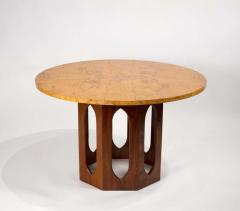 Edward Wormley Solid Walnut Olive Burl Wood Game Table by Edward Wormley for Dunbar - 1484244