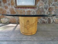 Edward Wormley Stunning Dunbar Edward Wormley Burled Olivewood Octagon Drum Coffee Table - 1252511