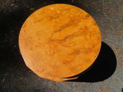 Edward Wormley Stunning Dunbar Edward Wormley Burled Olivewood Octagon Drum Coffee Table - 1252513
