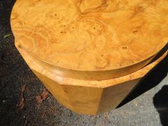 Edward Wormley Stunning Dunbar Edward Wormley Burled Olivewood Octagon Drum Coffee Table - 1252515