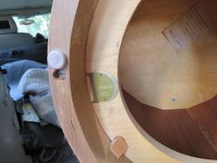 Edward Wormley Stunning Dunbar Edward Wormley Burled Olivewood Octagon Drum Coffee Table - 1252517