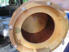 Edward Wormley Stunning Dunbar Edward Wormley Burled Olivewood Octagon Drum Coffee Table - 1252519