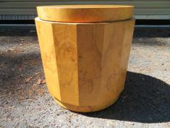 Edward Wormley Stunning Dunbar Edward Wormley Burled Olivewood Octagon Drum Coffee Table - 1252520