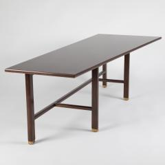 Edward Wormley Trapezoidal Walnut Coffee Table by Edward Wormley for Dunbar Circa 1950s - 1534592