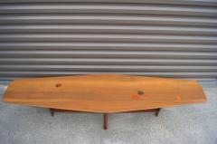 Edward Wormley Walnut Coffee Table with Natzler Tiles Model 5632N by Edward Wormley for Dunbar - 912068