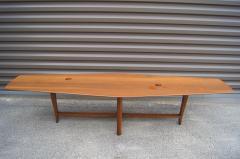 Edward Wormley Walnut Coffee Table with Natzler Tiles Model 5632N by Edward Wormley for Dunbar - 912071