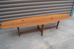 Edward Wormley Walnut Coffee Table with Natzler Tiles Model 5632N by Edward Wormley for Dunbar - 912072