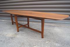 Edward Wormley Walnut Coffee Table with Natzler Tiles Model 5632N by Edward Wormley for Dunbar - 912073