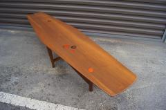 Edward Wormley Walnut Coffee Table with Natzler Tiles Model 5632N by Edward Wormley for Dunbar - 912075