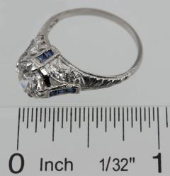 Edwardian 1 60 Ct Engagement Ring with Sapphire Accents - 199037