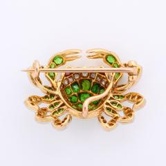 Edwardian Demantoid Garnet and Diamond Crab Brooch - 991875