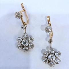 Edwardian Diamond Drop Earrings - 1049221