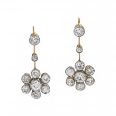Edwardian Diamond Drop Earrings - 1050861