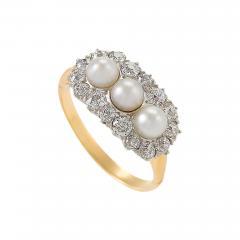 Edwardian Diamond and Pearl Ring - 679579