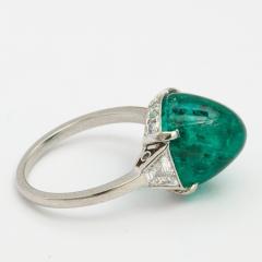 Edwardian Emerald and Diamond Ring - 375995