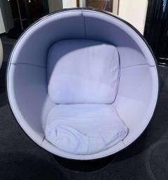 Eero Aarnio Ball Chair by Adelta Eero Aarino Black and Blue Finland  - 1488164