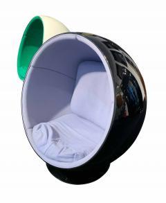 Eero Aarnio Ball Chair by Adelta Eero Aarino Black and Blue Finland  - 1532481