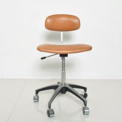 Eero Saarinen Cognac Leather Adjustable Office Task Desk Chair 1960s Saarinen Knoll Eames - 1706153