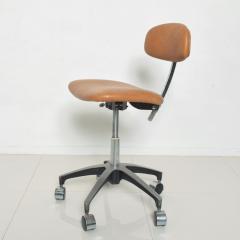 Eero Saarinen Cognac Leather Adjustable Office Task Desk Chair 1960s Saarinen Knoll Eames - 1706155