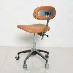 Eero Saarinen Cognac Leather Adjustable Office Task Desk Chair 1960s Saarinen Knoll Eames - 1706156