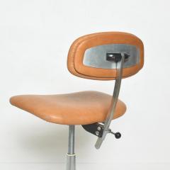 Eero Saarinen Cognac Leather Adjustable Office Task Desk Chair 1960s Saarinen Knoll Eames - 1706157