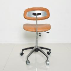 Eero Saarinen Cognac Leather Adjustable Office Task Desk Chair 1960s Saarinen Knoll Eames - 1706158