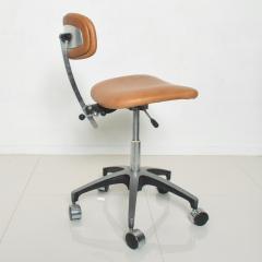 Eero Saarinen Cognac Leather Adjustable Office Task Desk Chair 1960s Saarinen Knoll Eames - 1706159
