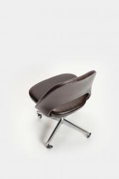 Eero Saarinen Eero Saarinen Office chair Leather 60s - 2067511