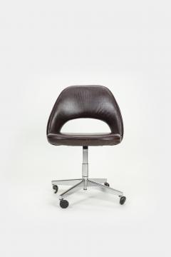 Eero Saarinen Eero Saarinen Office chair Leather 60s - 2067517