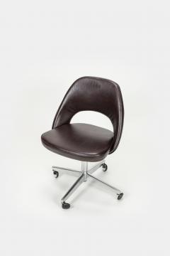 Eero Saarinen Eero Saarinen Office chair Leather 60s - 2067535
