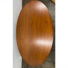 Eero Saarinen Eero Saarinen for Knoll Walnut Oval Dining Table - 1719729