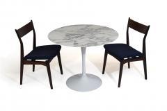 Eero Saarinen Knoll Saarinen 35 Round Arabescato Marble Dining Table - 1264765