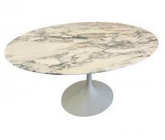 Eero Saarinen Mid Century Modern Oval Dining Table by Eero Saarinen for Knoll in White Marble - 2011741