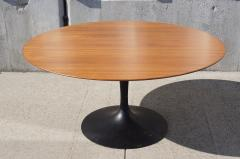 Eero Saarinen Rare Walnut TeaHeight Pedestal Table By Eero - Knoll pedestal table